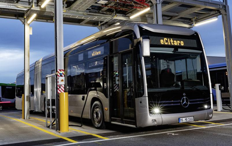 Новый сочлененный электробус Mercedes-Benz eCitaro G