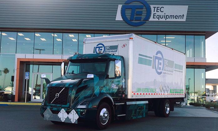 В Калифорнии начали тестировать электрогрузовик Volvo VNR 2