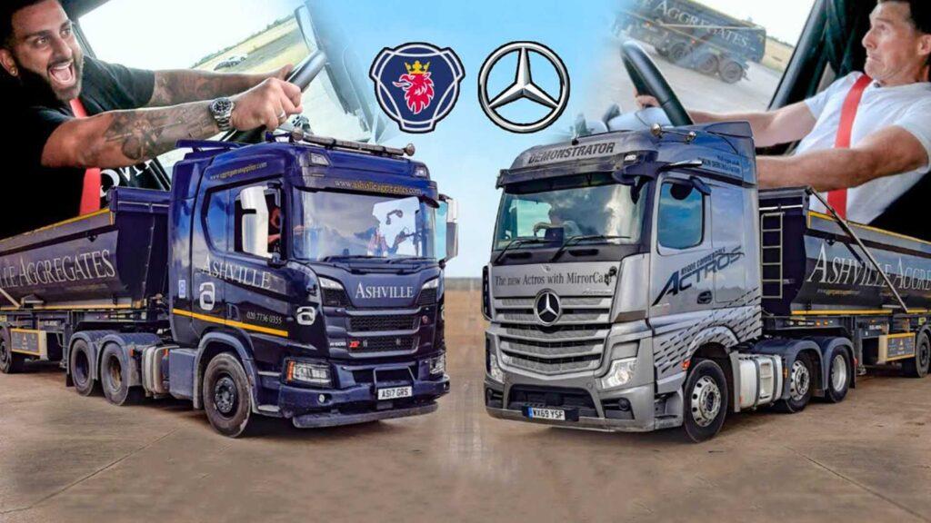 Драг-рейсинг для седельных тягачей Mercedes и Scania 11