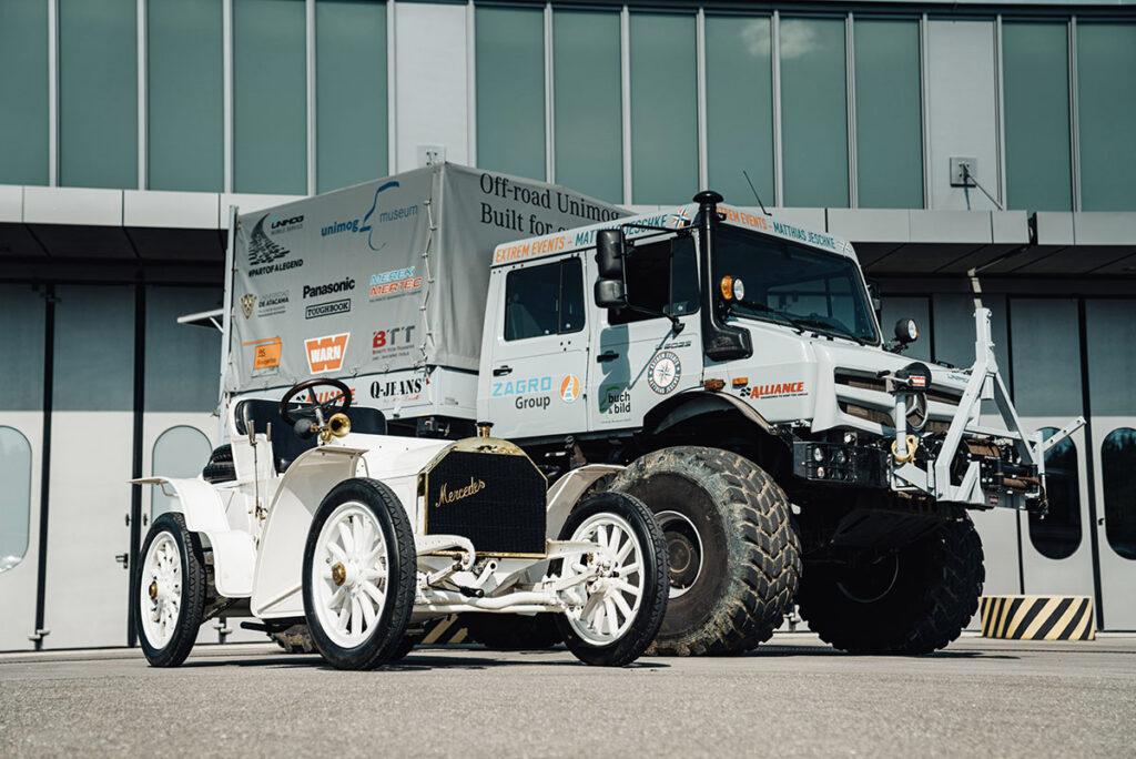 Немцы сравнили Unimog c Mercedes Simplex
