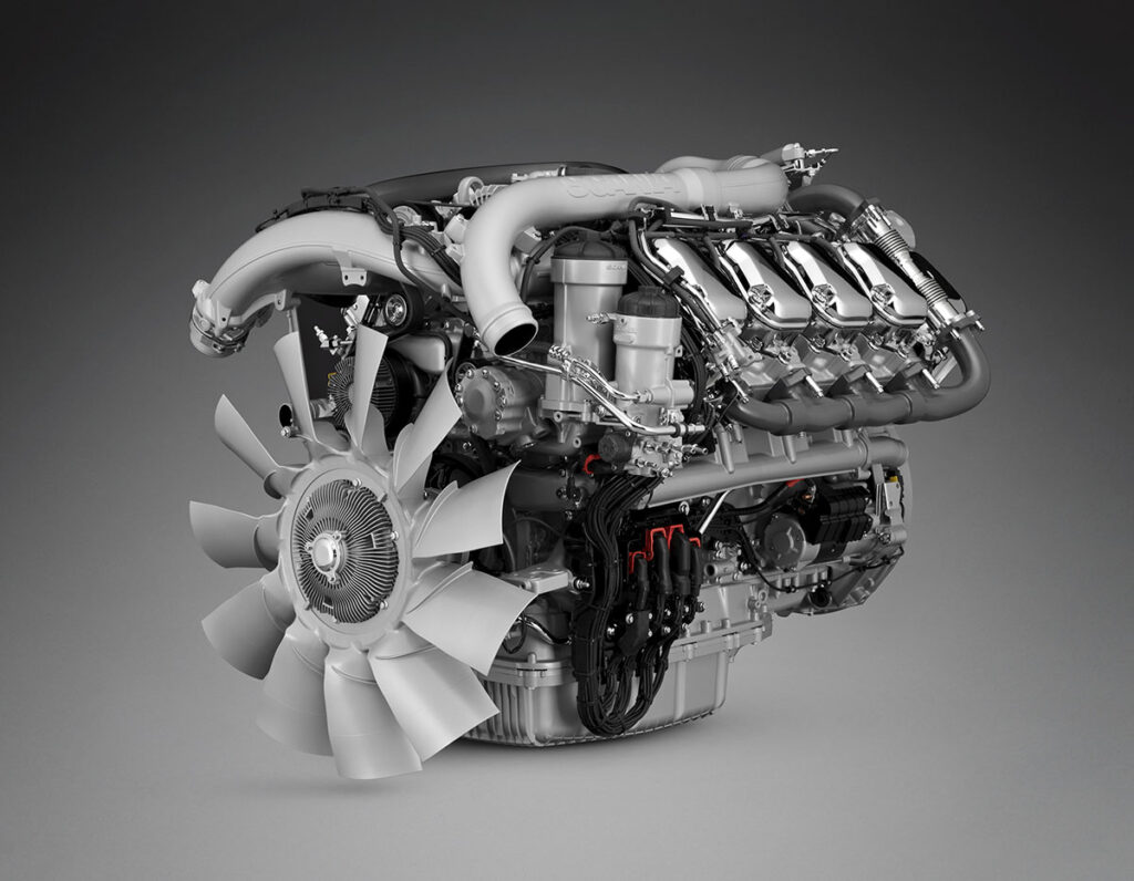 Мотор грузовика Scania