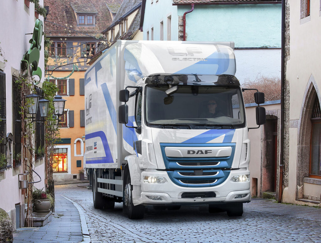 DAF Trucks представляет обновленную электрическую модель DAF LF Electric