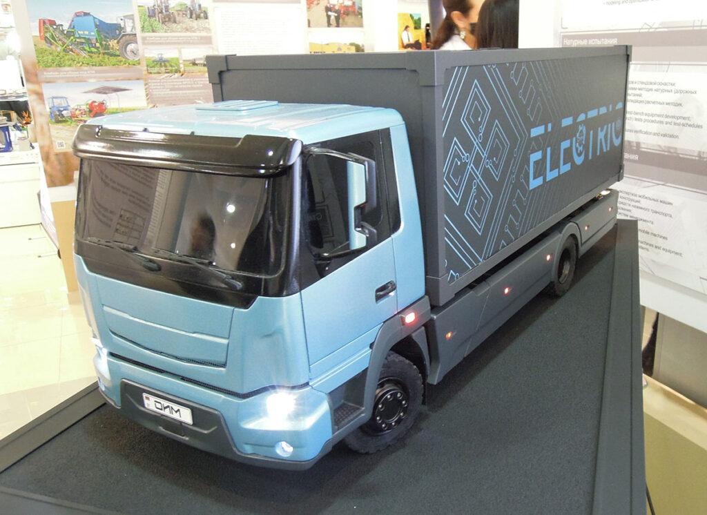 Новый концепт электрогрузовика МАЗ