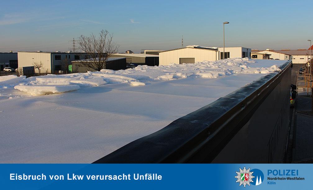 Лед на крышах грузовиков 2