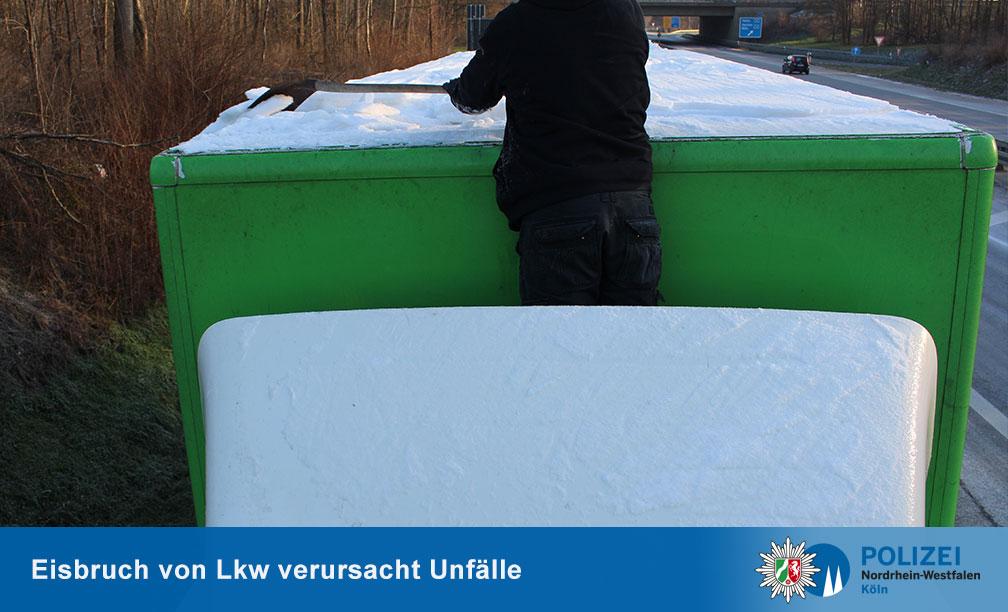 Лед на крышах грузовиков 3