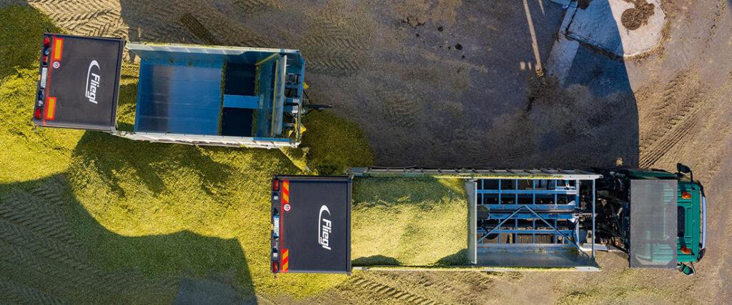 Агроавтопоезд Tatra и Fliegl 4