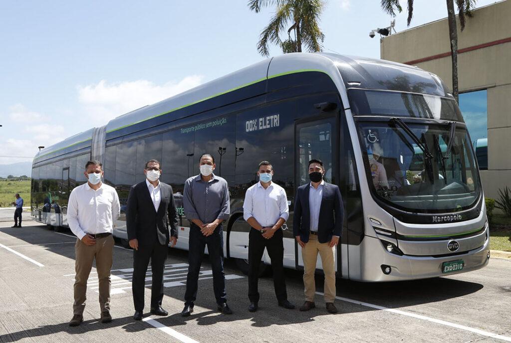 Первый бразильский электробус BYD