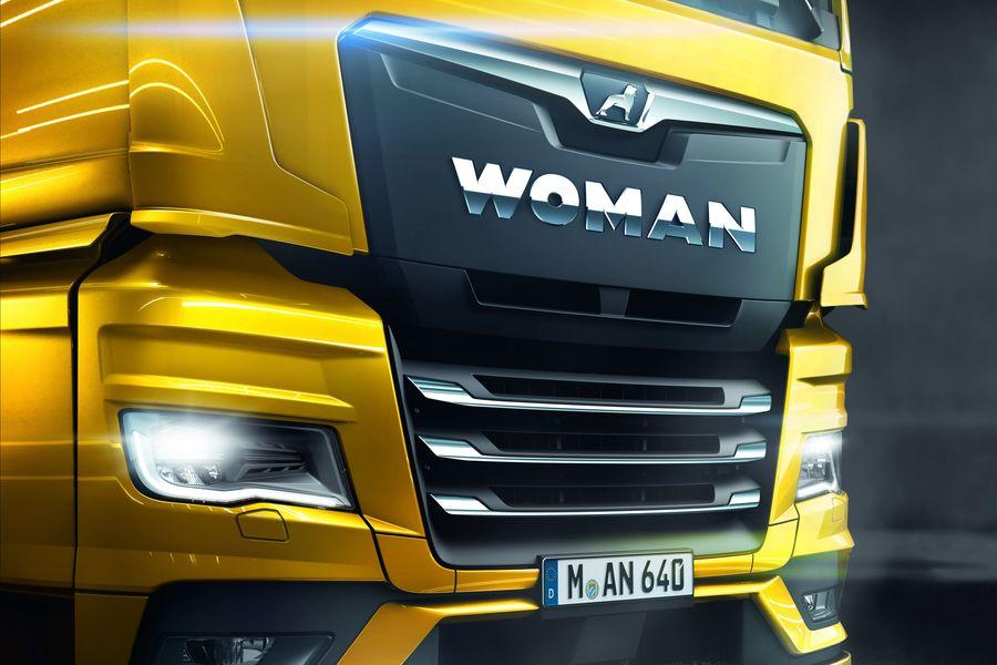 В Германии на дорогу выехала WOMAN TGX 18.510 GX 3
