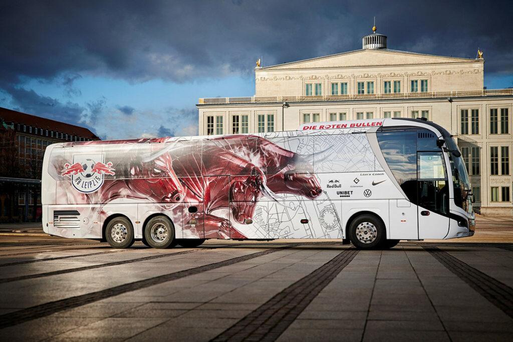 Командный автобус MAN для «Быков» из Лейпцига