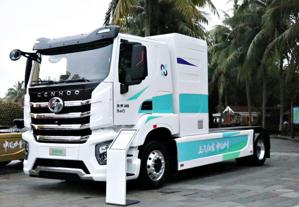 Водородный грузовик SAIC Hongyan