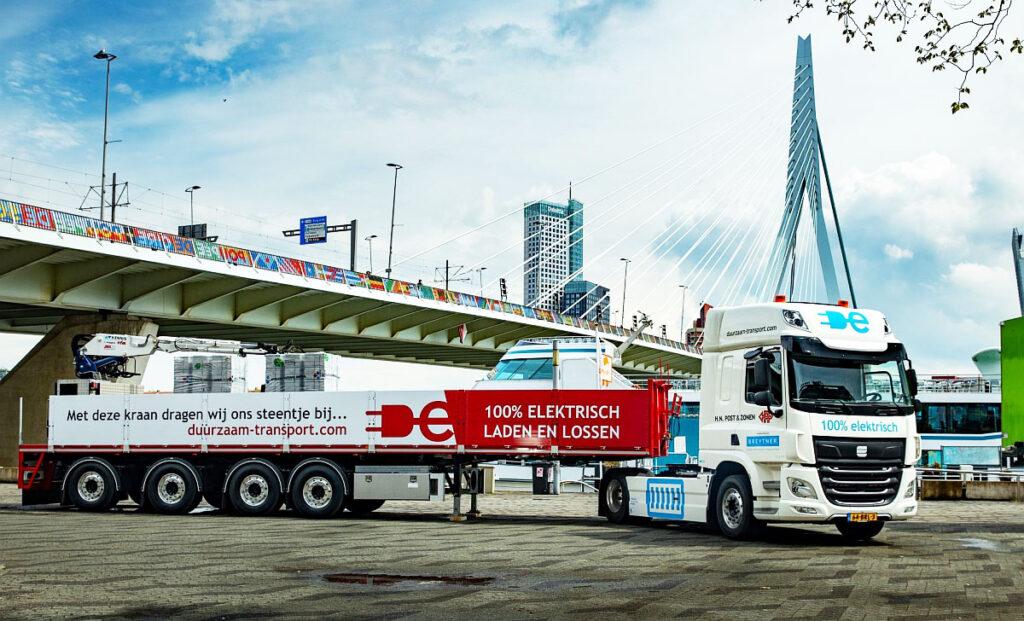 50-тонный автопоезд с электрическим тягачом 2
