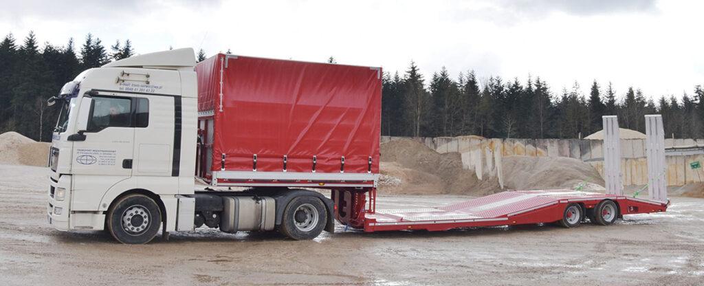 Полуприцеп для перевозки грузовиков и их ремонта 4