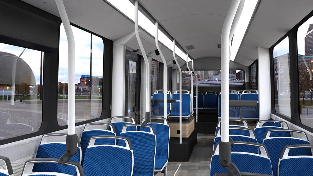 салон электробуса Citea LF-122