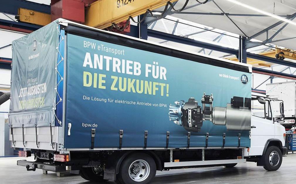 дизельный грузовик Mercedes-Benz Vario, переделанный в электромобиль