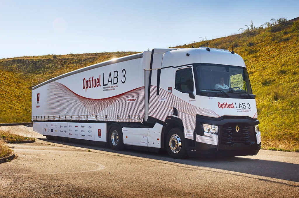 концептуальный автопоезд Renault Optifuel Lab 3