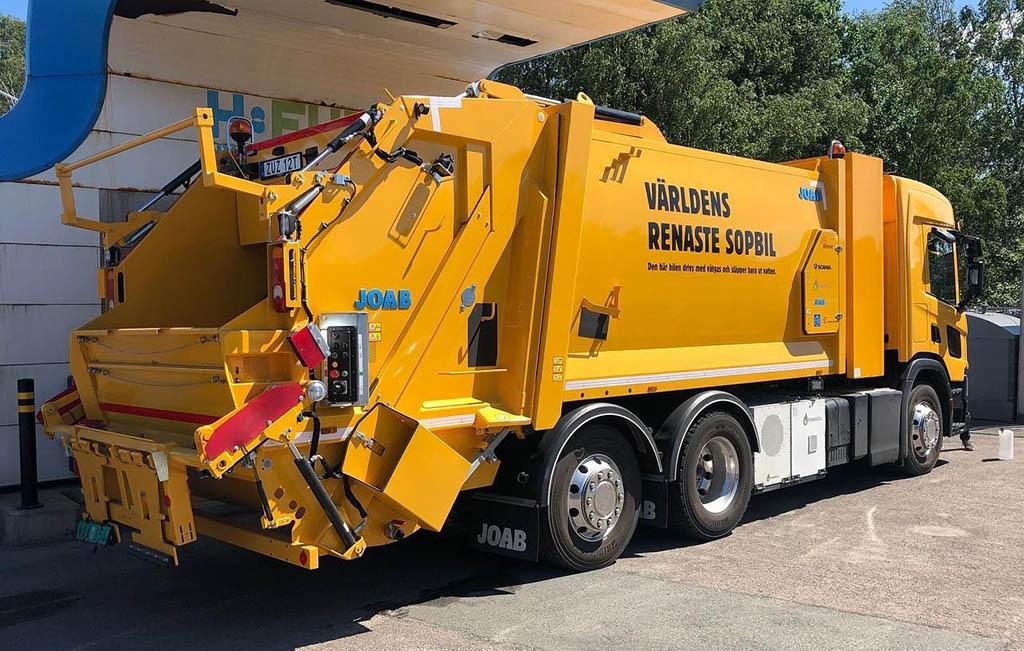 Первый водородный мусоровоз Scania_1