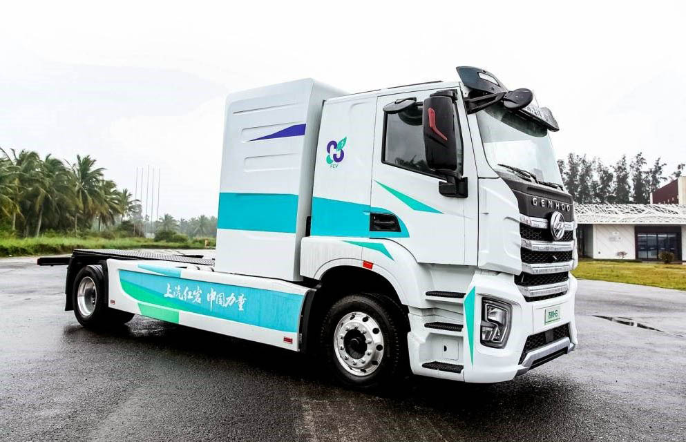 В Китае начали стройку, на которой используют только грузовики на водороде_2