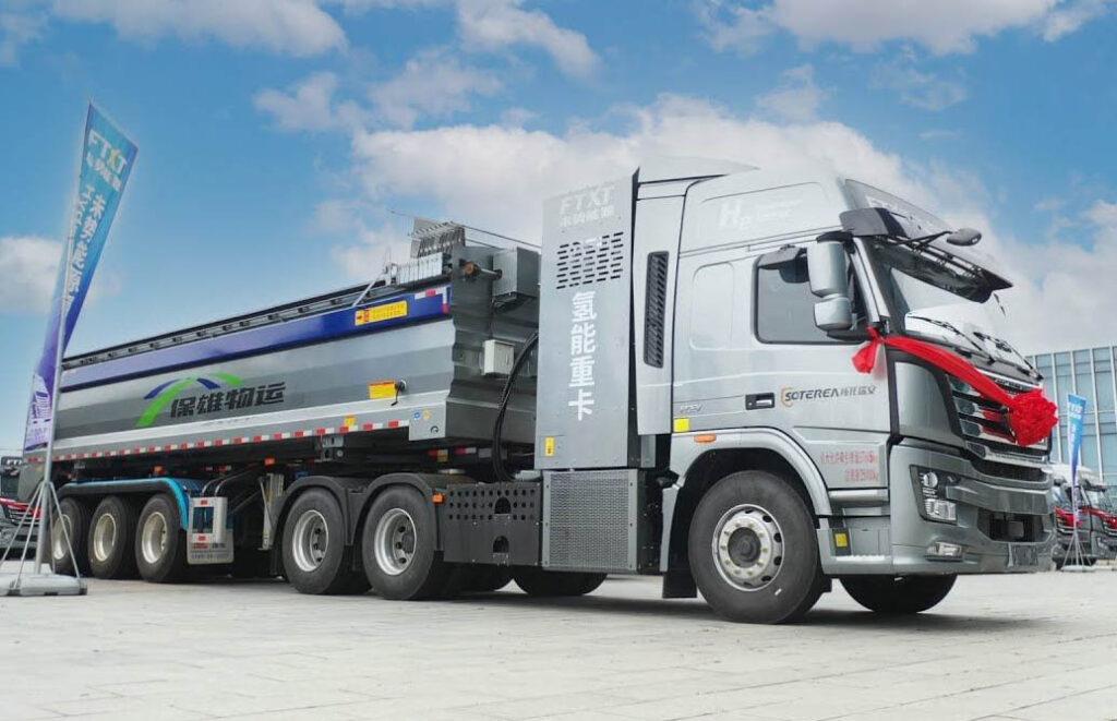 В Китае начали стройку, на которой используют только грузовики на водороде_1