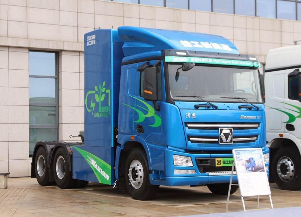 В Китае начали стройку, на которой используют только грузовики на водороде