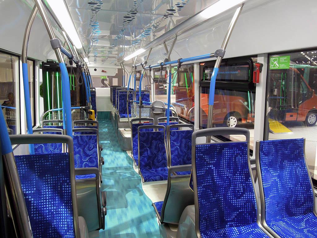 салон водородного электробуса CityMAX Hydrogen