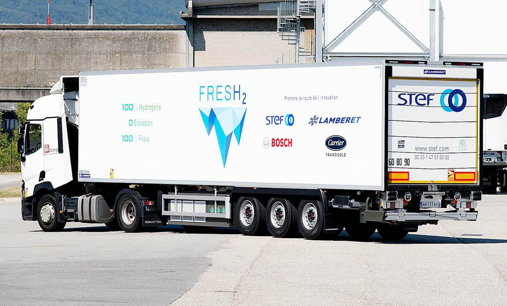 Полуприцеп-рефрижератор Lamberer FresH2 с водородным холодильником