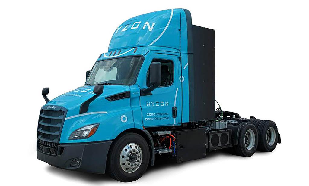 Первый водородный грузовик Hyzon выпущен в США