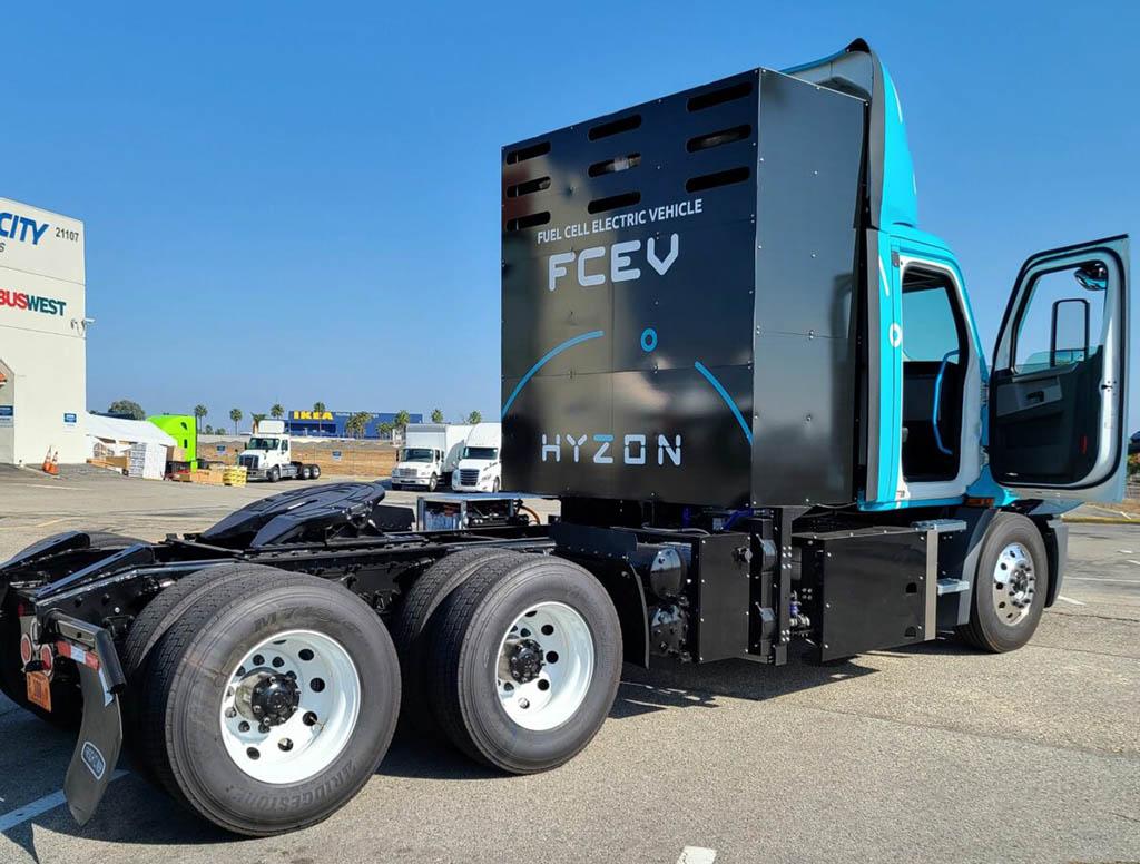 Первый водородный грузовик Hyzon выпущен в США_1