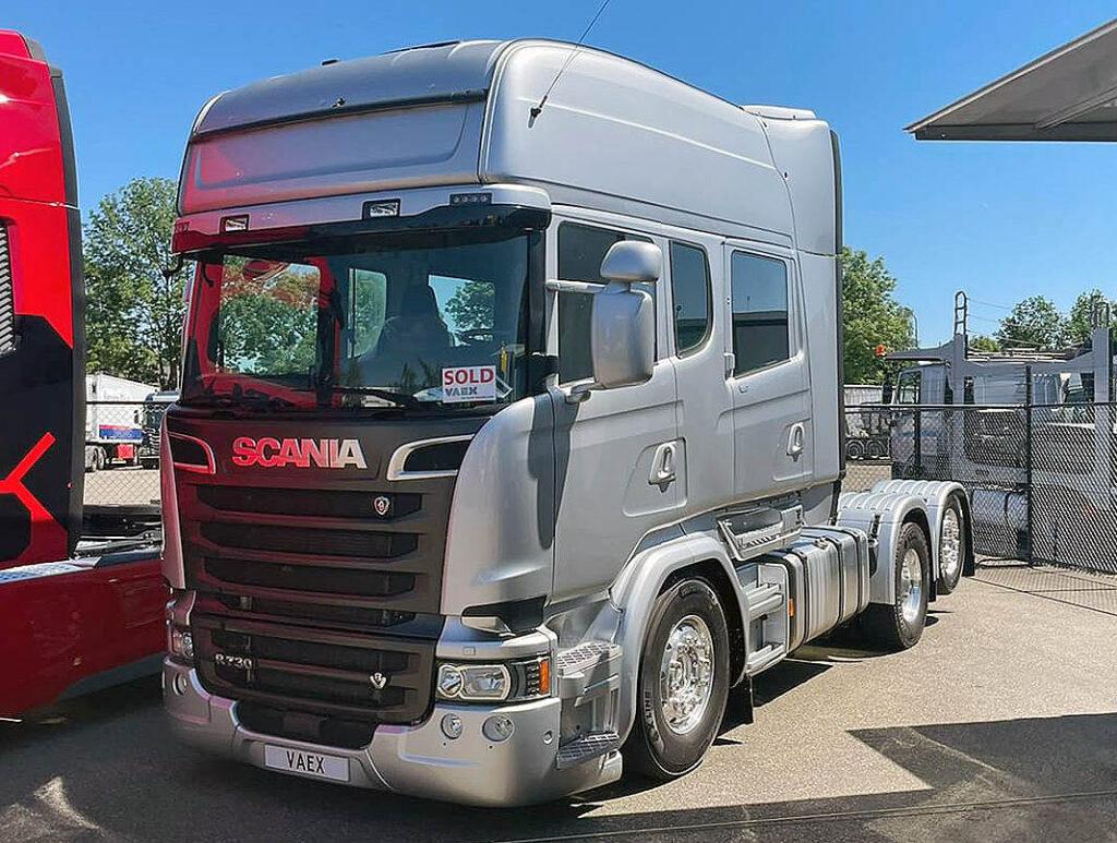Уникальный тягач Scania R730 6x2 с четырехдверной кабиной R Topline Crewcab